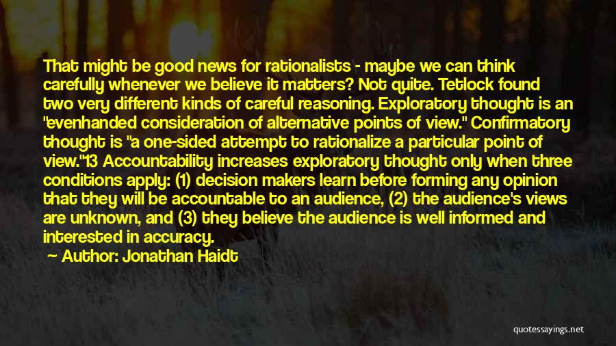 Different Points Of View Quotes By Jonathan Haidt