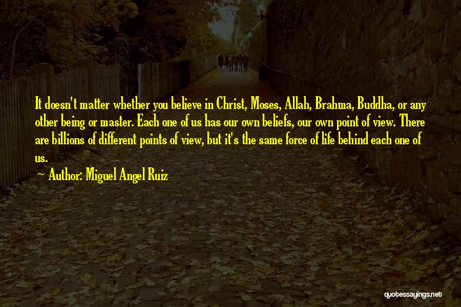 Different Points Of View Quotes By Miguel Angel Ruiz