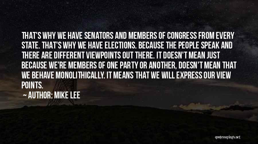 Different Points Of View Quotes By Mike Lee