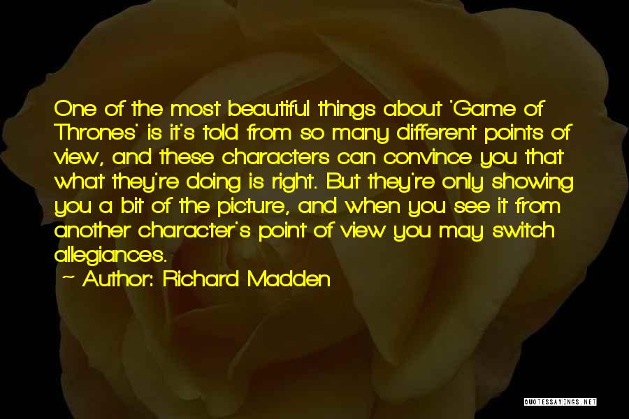 Different Points Of View Quotes By Richard Madden