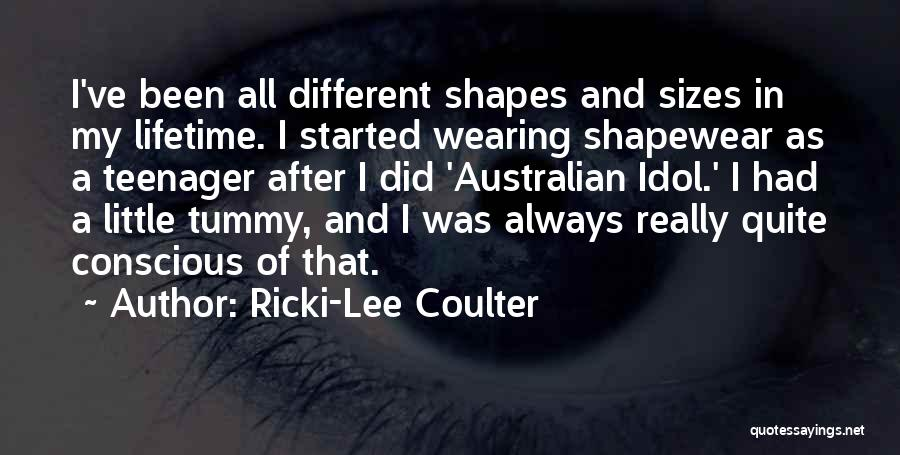 Different Sizes Quotes By Ricki-Lee Coulter