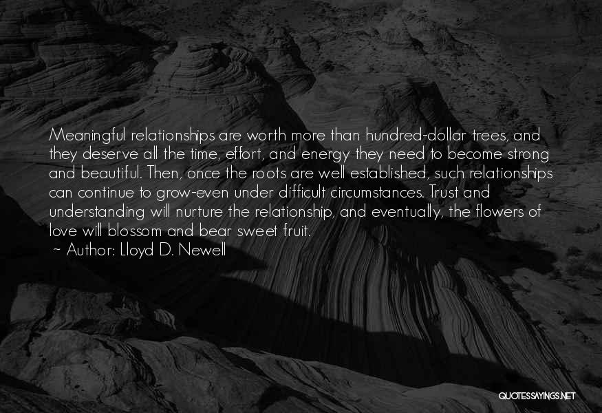 Difficult Love Relationships Quotes By Lloyd D. Newell