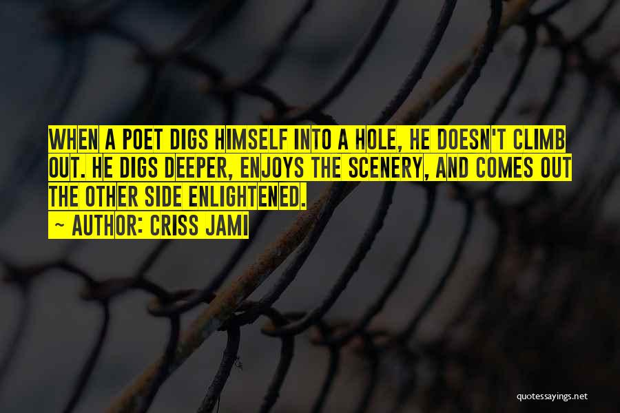 Digging Yourself A Hole Quotes By Criss Jami