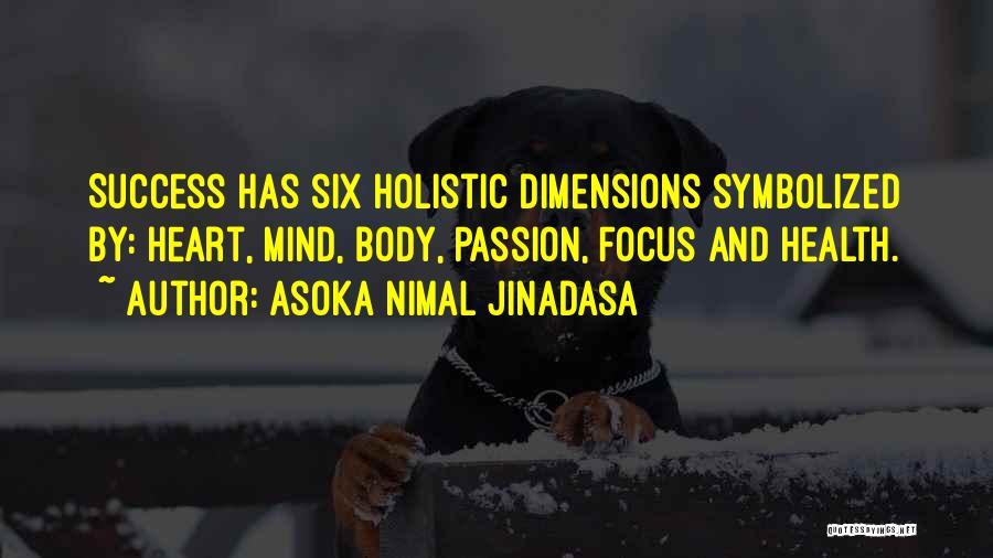 Dimensions Of Health Quotes By Asoka Nimal Jinadasa