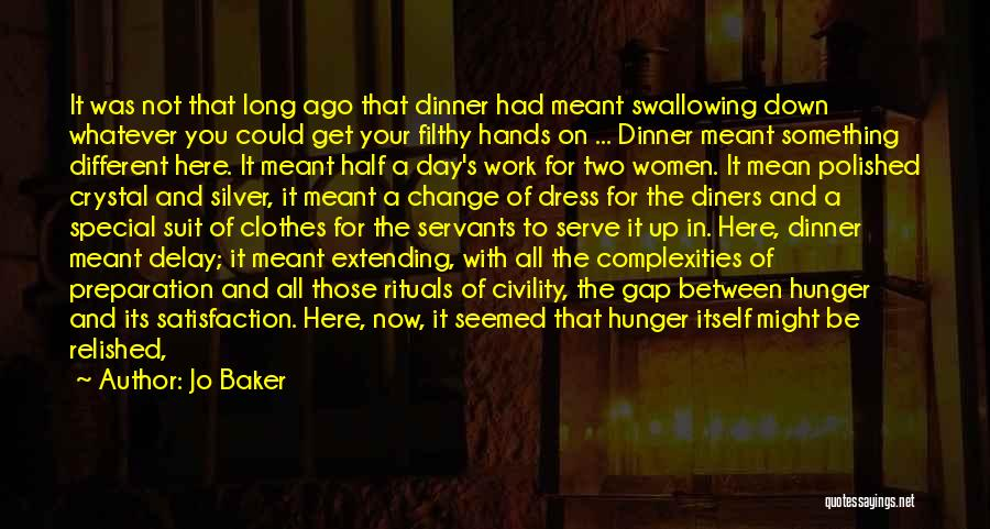Dinner Plates Quotes By Jo Baker