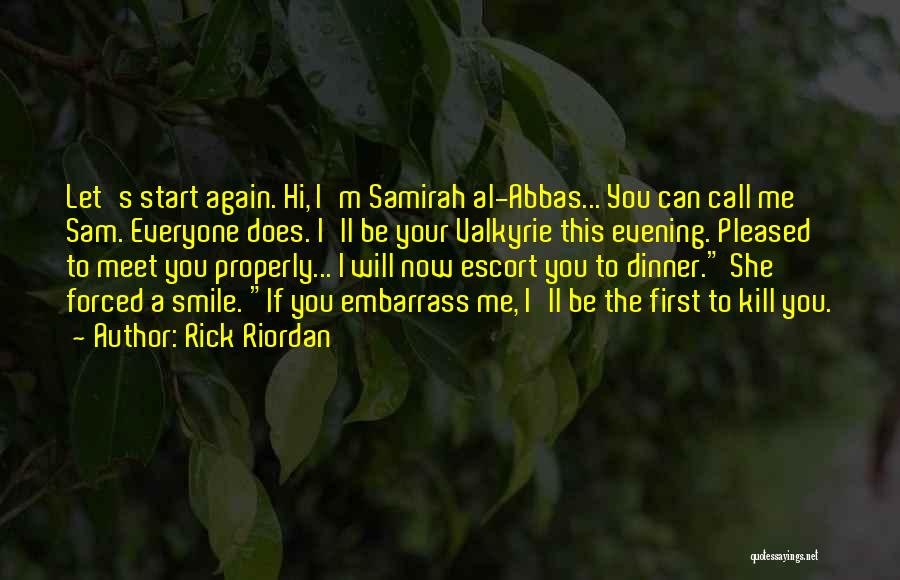 Dinner Quotes By Rick Riordan