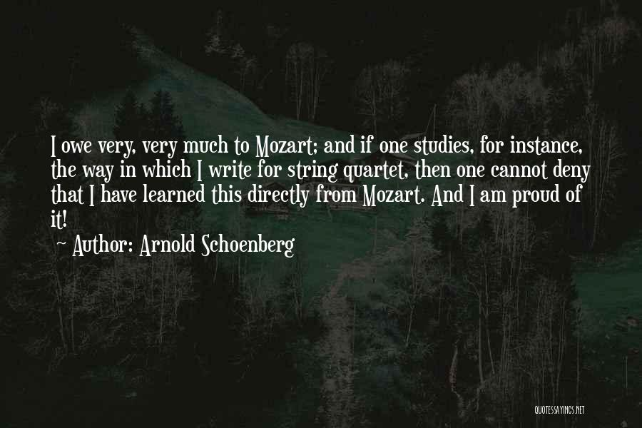 Directly Quotes By Arnold Schoenberg