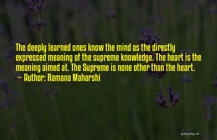 Directly Quotes By Ramana Maharshi