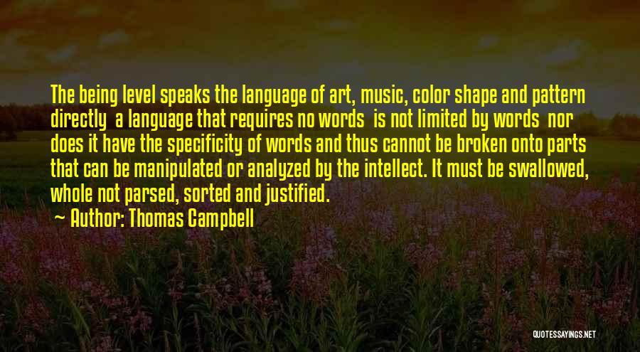 Directly Quotes By Thomas Campbell