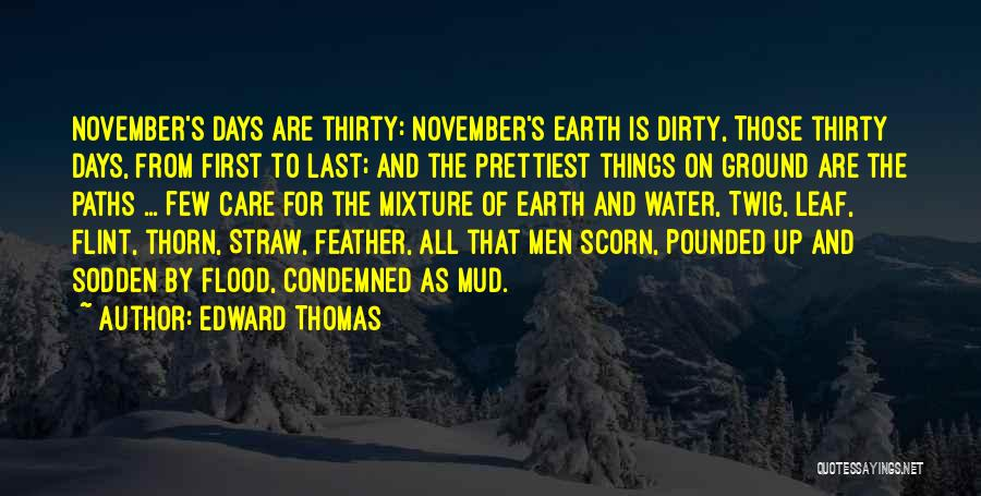Dirty Thirty Quotes By Edward Thomas