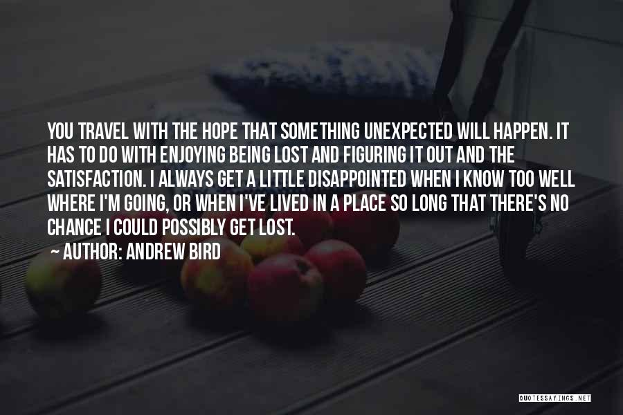 Disappointed Hope Quotes By Andrew Bird
