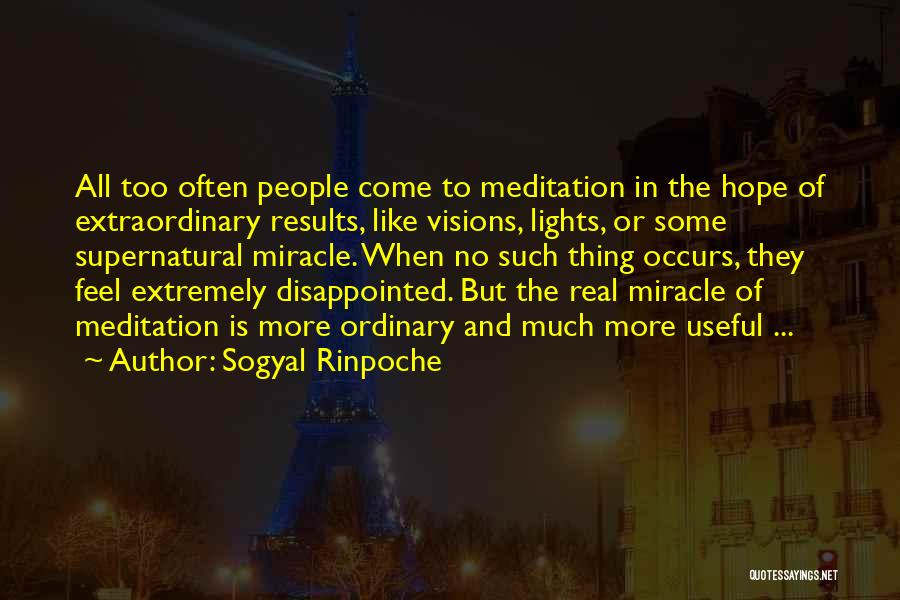 Disappointed Hope Quotes By Sogyal Rinpoche