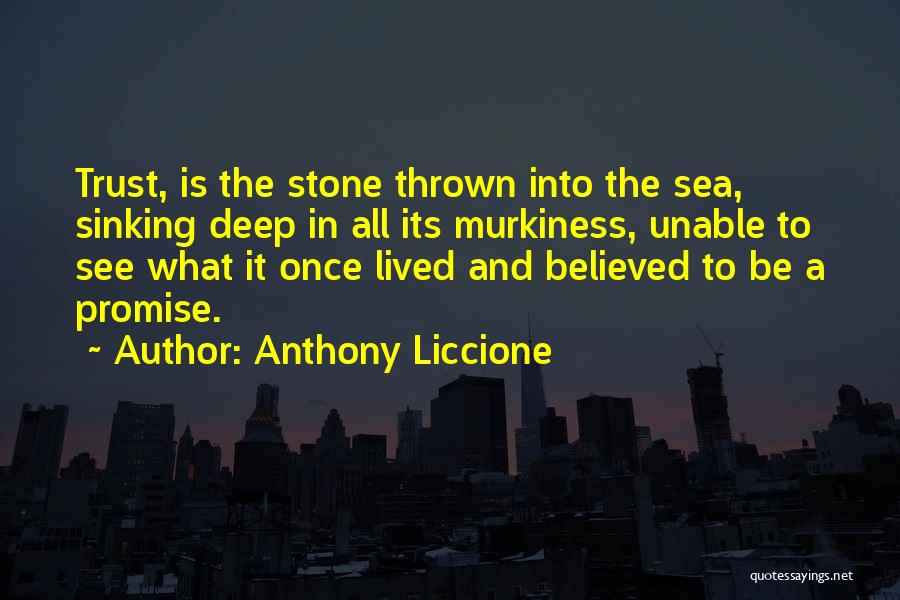 Disappointment In Trust Quotes By Anthony Liccione