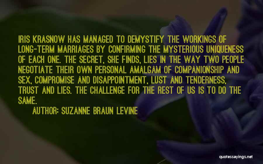 Disappointment In Trust Quotes By Suzanne Braun Levine