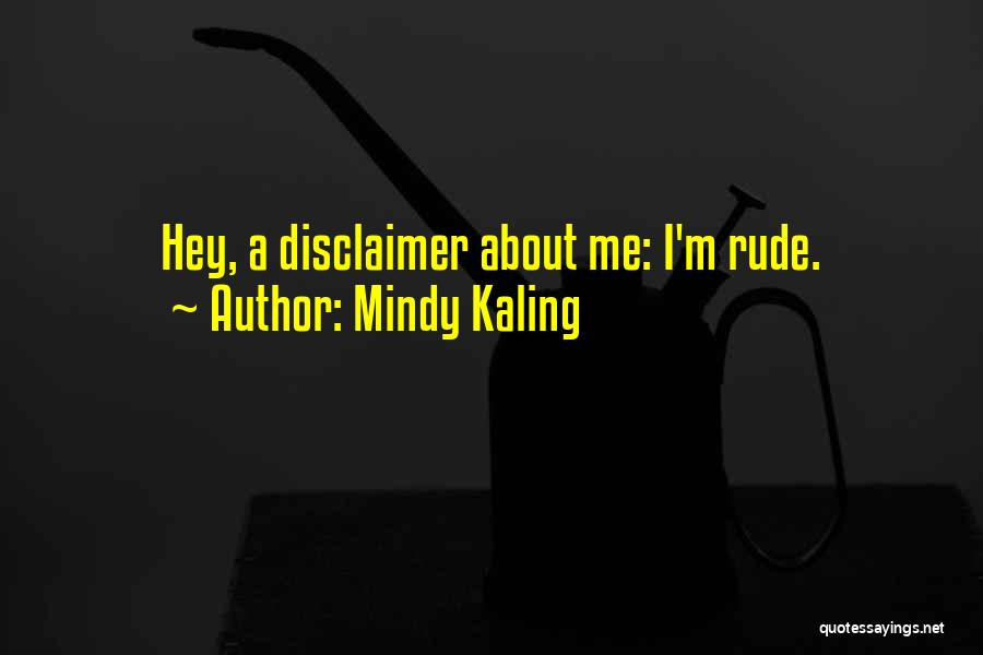 Disclaimers Quotes By Mindy Kaling