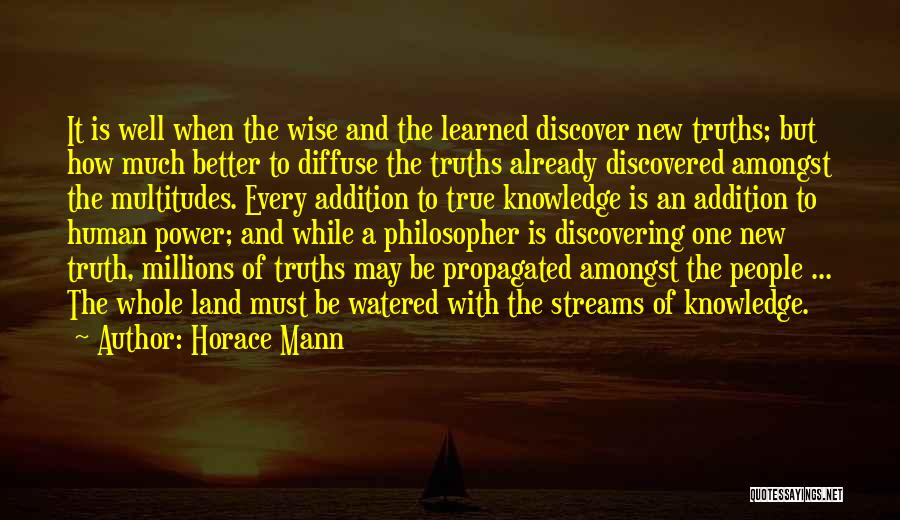 Discovering New Land Quotes By Horace Mann