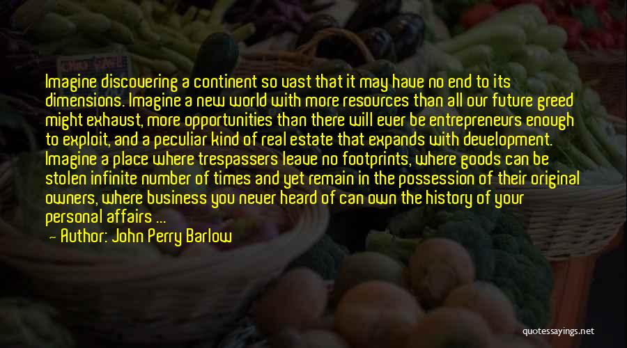Discovering New Things Quotes By John Perry Barlow
