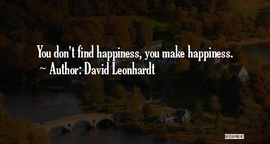Discovering Self Quotes By David Leonhardt