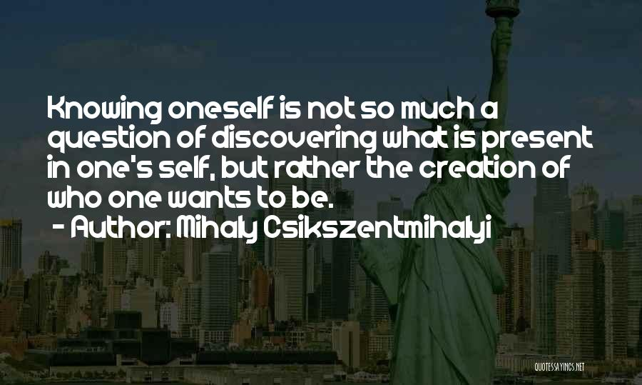 Discovering Self Quotes By Mihaly Csikszentmihalyi