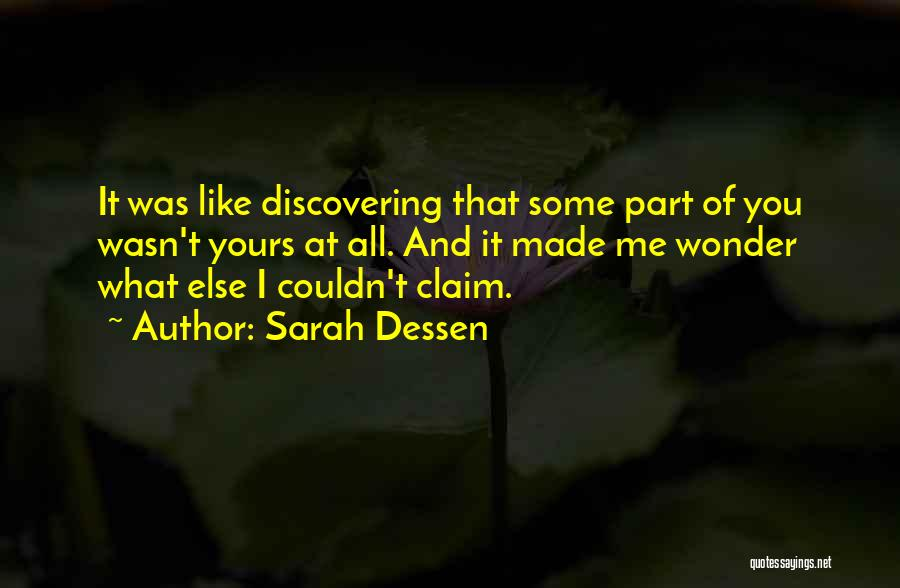 Discovering Self Quotes By Sarah Dessen