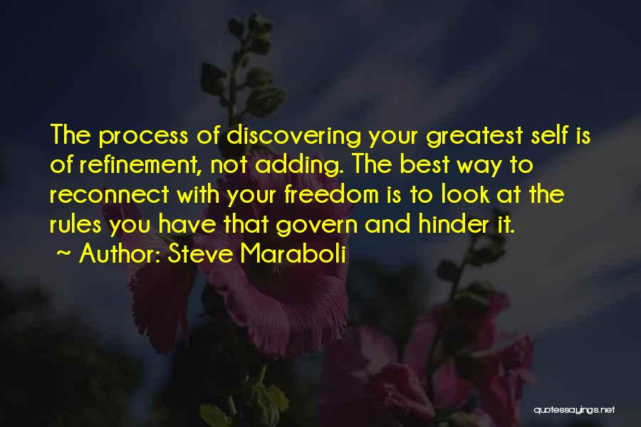 Discovering Self Quotes By Steve Maraboli