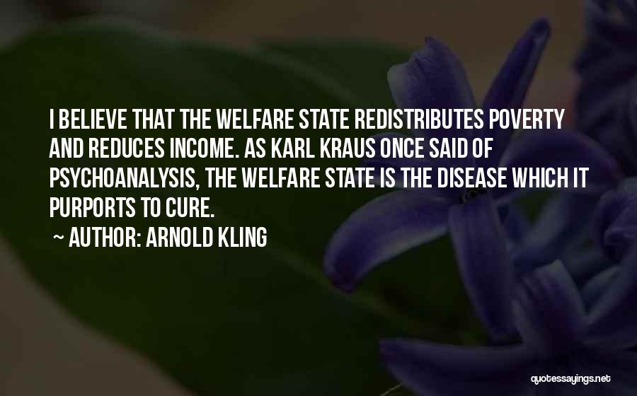 Disease Cure Quotes By Arnold Kling