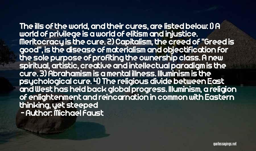 Disease Cure Quotes By Michael Faust