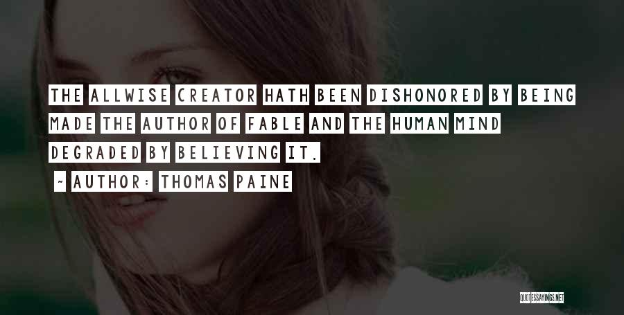 Dishonored Quotes By Thomas Paine