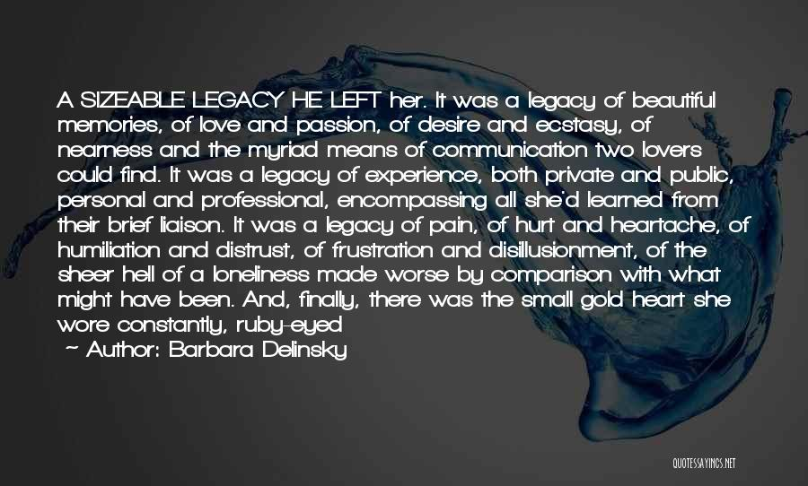 Disillusionment In Love Quotes By Barbara Delinsky