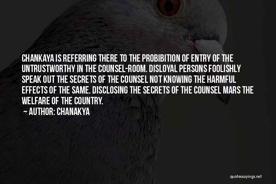 Disloyal Quotes By Chanakya