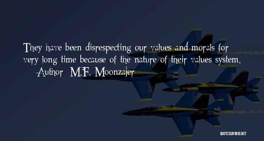 Disrespecting Quotes By M.F. Moonzajer