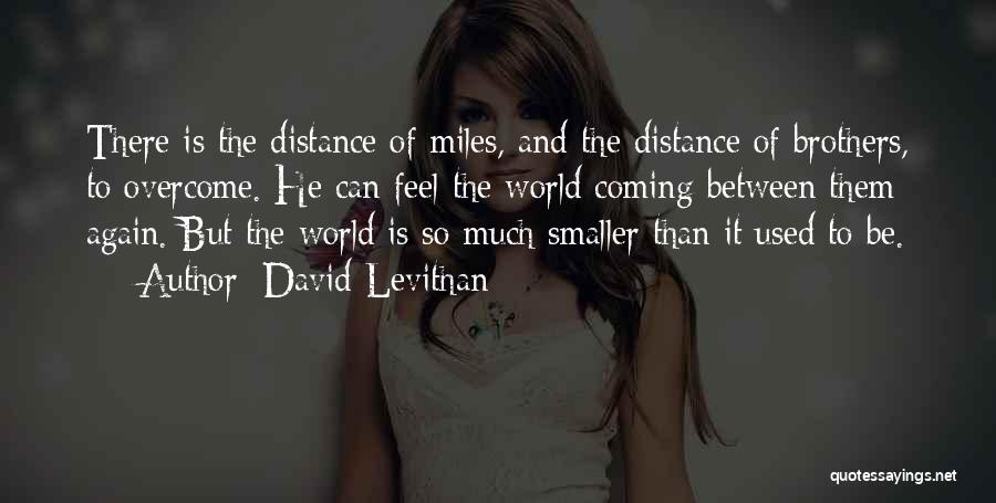 Distance Between Brothers Quotes By David Levithan