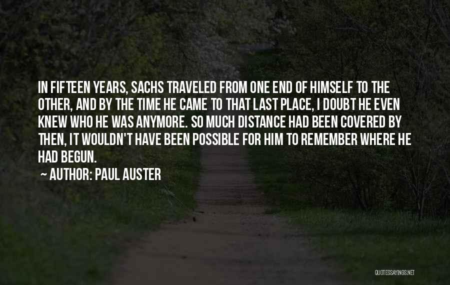 Distance Covered Quotes By Paul Auster