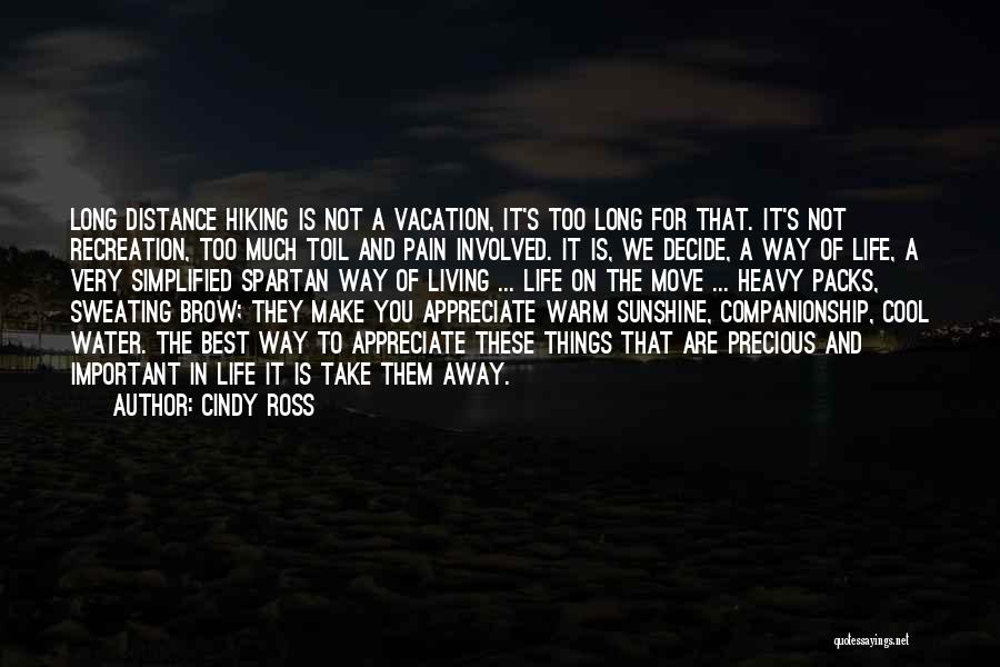 Distance Is Not Important Quotes By Cindy Ross