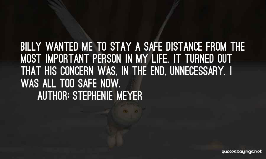 Distance Is Not Important Quotes By Stephenie Meyer