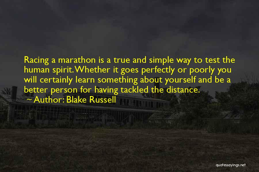 Distance Yourself Quotes By Blake Russell