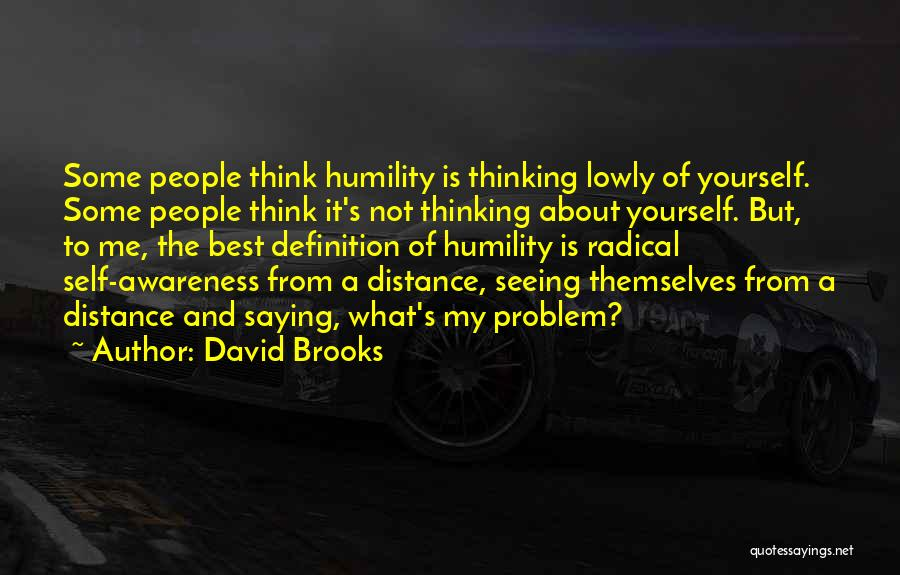 Distance Yourself Quotes By David Brooks