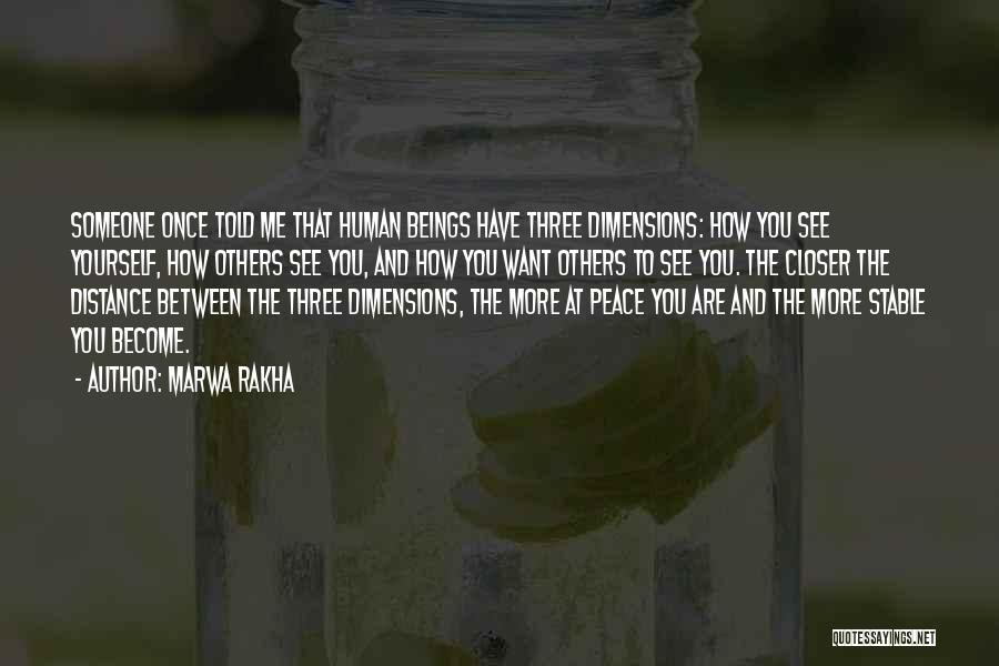Distance Yourself Quotes By Marwa Rakha