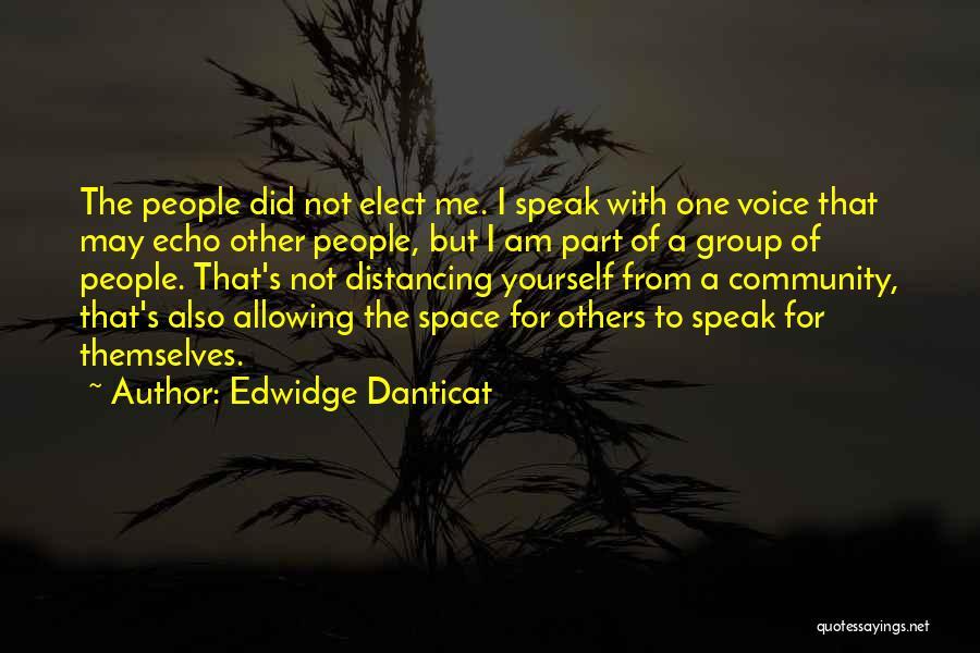 Distancing Self Quotes By Edwidge Danticat