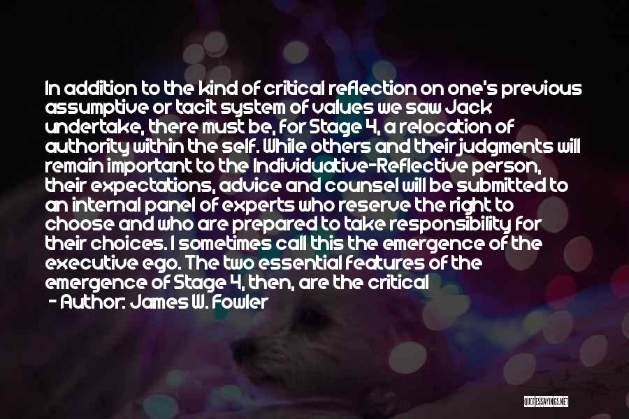 Distancing Self Quotes By James W. Fowler
