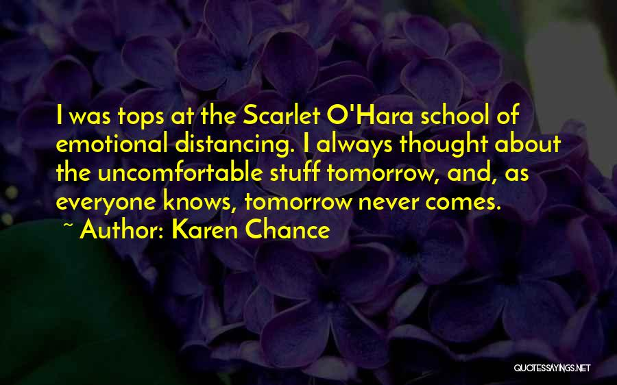 Distancing Self Quotes By Karen Chance