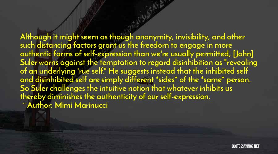 Distancing Self Quotes By Mimi Marinucci