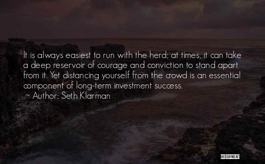 Distancing Self Quotes By Seth Klarman