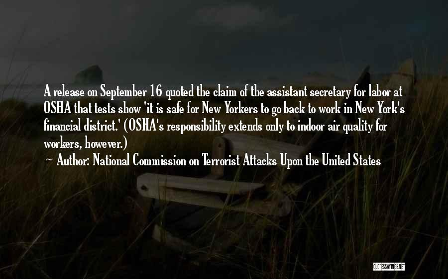 District 11 Quotes By National Commission On Terrorist Attacks Upon The United States