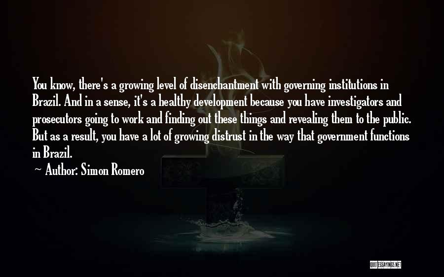 Distrust In Government Quotes By Simon Romero