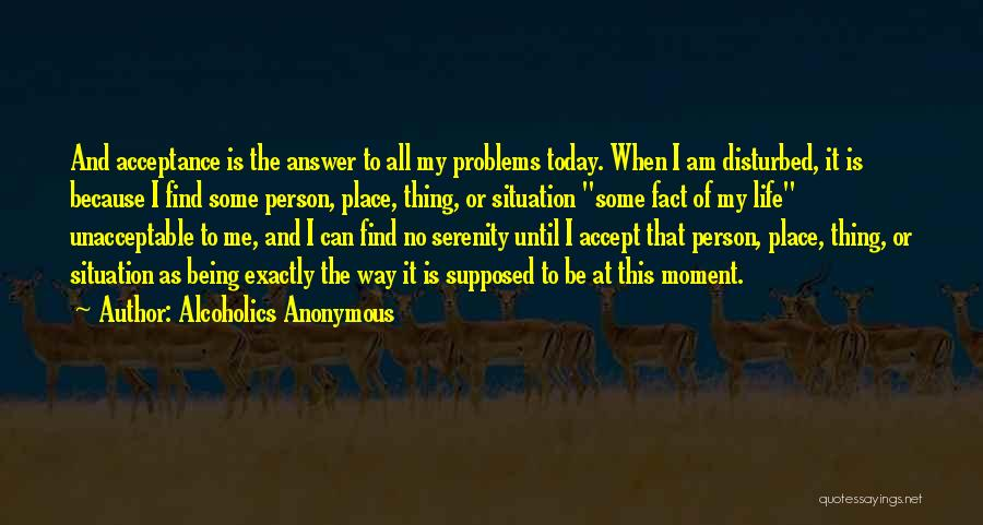 Disturbed Life Quotes By Alcoholics Anonymous
