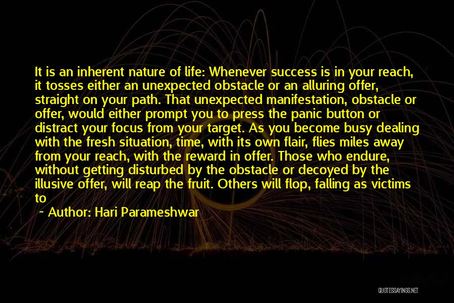 Disturbed Life Quotes By Hari Parameshwar
