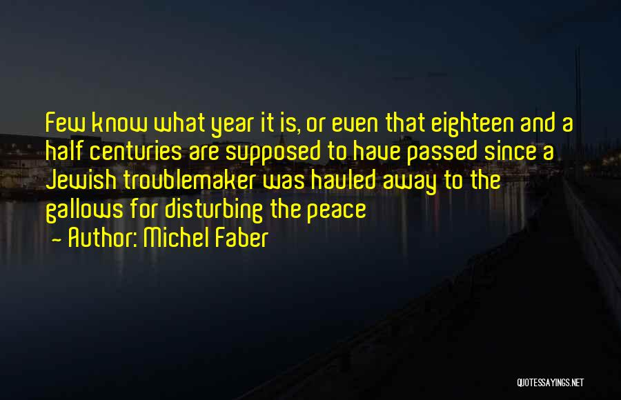 Disturbing Peace Quotes By Michel Faber