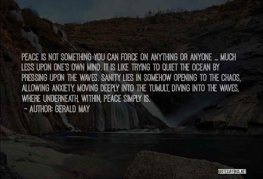 Diving In The Ocean Quotes By Gerald May