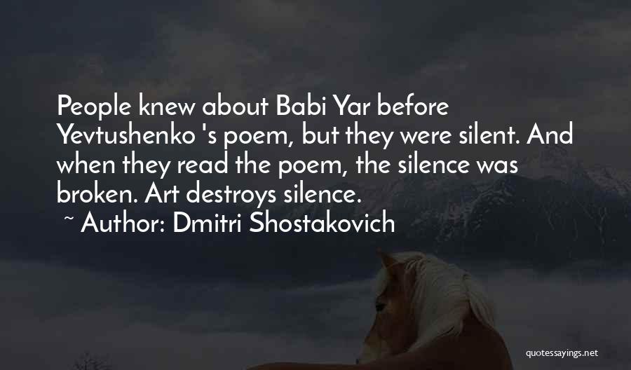Dmitri Shostakovich Quotes 2136194